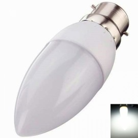 B22 3W 10 LED 2835SMD 6000K-6500K Pure White Light Cusp LED Candle Lamp
