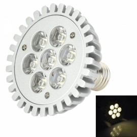 E27 7W 560LM 3500K 7 LED Warm White Light Spotlight Silver (90-265V)