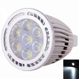 MR16 7W 7*3030SMD LED 6000-6500K White Light Pearly Polish LED Spotlight (AC/DC 12V)