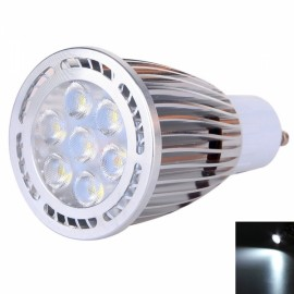 GU10 7W 7*3030 SMD LED 6000-6500K White Light Pearly Polish LED Spot Lamp (AC 85-265V)