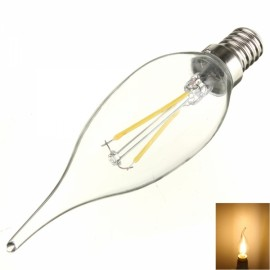 E14 2W 160LM 2700K Warm White Light LED Filament Candle Bulb (AC 110V)