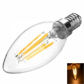 E14 4W 400LM 3200K Warm White Light 4-COB LED Filament Bulb (AC220V)