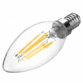E14 4W 400LM 6500K White Light 4-COB LED Filament Bulb (AC110V)