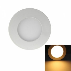 3W 265LM 3000K Warm White Light 15-SMD2835 Ultra Slim Round LED Ceiling Light / Panel Lamp White (AC85-265V)