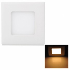 3W 265LM 3000K Warm White Light 15-SMD2835 Ultra Slim Square LED Ceiling Light / Panel Lamp White (AC85-265V)