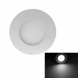 3W 265LM 6000K White Light 15-SMD2835 Ultra Slim Round LED Ceiling Light / Panel Lamp White (AC85-265V)