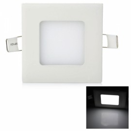 3W 265LM 6000K White Light 15-SMD2835 Ultra Slim Square LED Ceiling Light / Panel Lamp White (AC85-265V)
