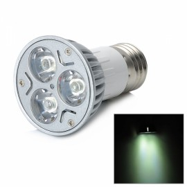 DB-YE302-01 E27 3W 240LM 6000-6500K 3-LED White Spotlight White & Silver (85-265V)