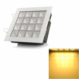 Square Shaped 16W 1600lm 3500K Warm White 16-LED Ceiling Light Lamp White (85-265V)