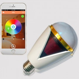 H1007 Bluetooth 4.0 App Remote Control Intelligent Timer Smart Speaker 16 Million Color RGB Light Bulb White