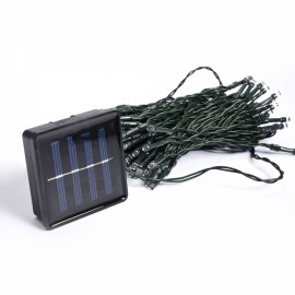 100 LED Warm White Light Indoor Outdoor Wedding Christmas Party Solar Powered String Light
