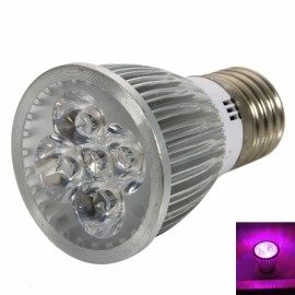 E27 5W 400-450LM Red & Blue Light Small Plant LED Bulb Silver (85-265V)