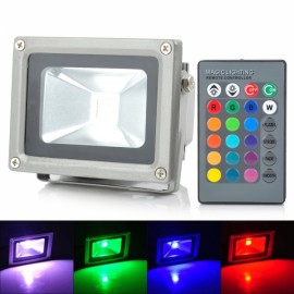 LIT HK-BB01 10W 900lm RGB LED Projection Lamp / Flood Lamp Black & Silver (85~265V)