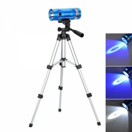 5W Blue & White Light Dual-LED 4-Mode Rechargeable Fishing Light with Tripod Stand Blue
