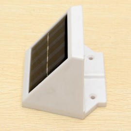 Outdoor Waterproof 4-LED Solar Powered Stairs Fence Garden Security White Light Lamp White