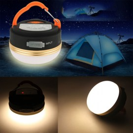 Outdoor Camping Hiking Light Lantern Rechargeable LED USB Tent Warm White Lamp Black & Yellow