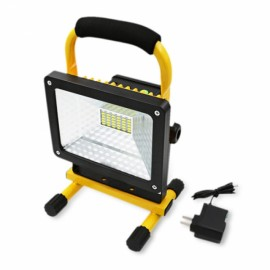 30W 36 LED Portable Rechargeable Spot Work Flood Light Black & Yellow