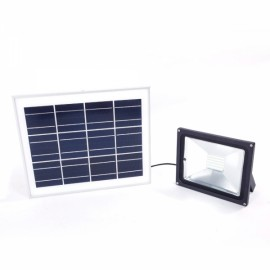 30W 60-LED Solar Powered Panel Flood Light Outdoor Garden Wall Lamp