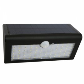 Triangular 66-LED White Light Human Body Sensor & Light Control & Slightly Bright Wall Lamp Black