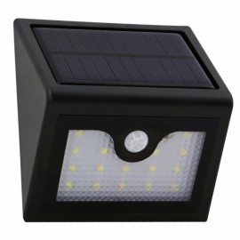 Triangular 16-LED White Light Human Body Sensor & Light Control & Slightly Bright Wall Lamp Black