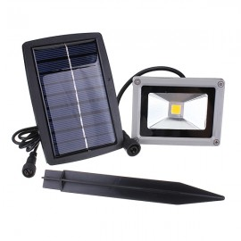 10W Solar Power LED Flood Light Waterproof Outdoor Landscape Spotlight Warm White Light Gray