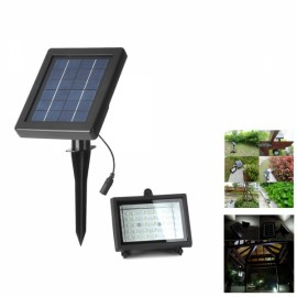 Solar Powered 30 LED Garden PIR Motion Sensor LED Wall Light Black