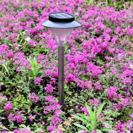 Solar Power 24 LED COB Buried Underground Garden Lamp White & Black