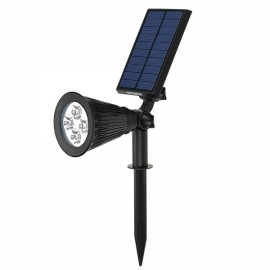 Adjustable Solar Powered Colorful 4 LED Spotlight Garden Lawn Patio Waterproof Wall Lamp