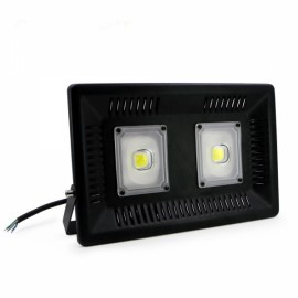 100W IP65 Waterproof Anti-thunder Temperature Control Ultrathin LED Flood Light Warm White (AC170-300V)