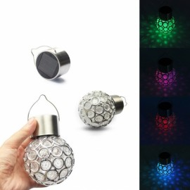 3pcs Solar Ball Garden Hang Outdoor Landscape Color Change LED Lamp