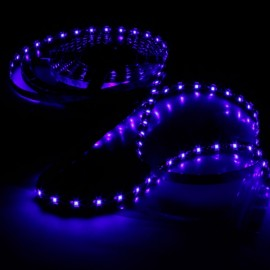 24W SMD3528 5m 300LEDs Blue Light Epoxy Waterproof LED Light Strip (White Lamp Plate) (12V)