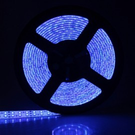 Double LED Light Bar 500CM 90W 900-LED 3528 SMD 450-490nm Waterproof Blue Decorative Light Strip White & Transparent (DC 12V)