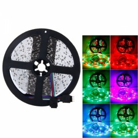 Plastic 300-LED SMD3528 24W RGB IR44 New Light Strip Set with IR Remote Controller (White Lamp Plate)