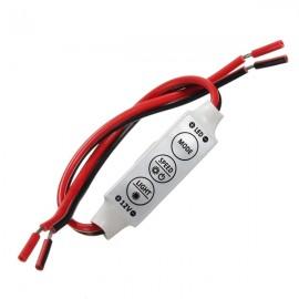 DC 12V 3 Keys Single Color Mini Dimmer Controller for 5050 / 3528 LED Strip Light White