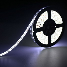 5M 24W SMD3528 LED IP65 Water Resistant Flexible Strip Lamp (DC 12V) White