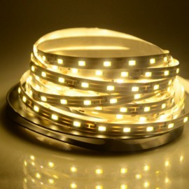 5M 24W SMD3528 LED IP65 Water Resistant Flexible Strip Lamp (DC 12V) Yellow