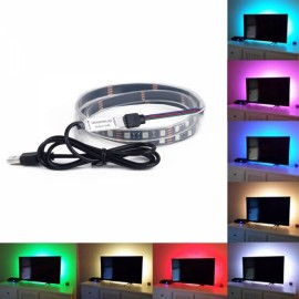 RGB with Remote Control Change Color LED Tele Background Light White