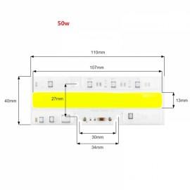 50W DIY COB LED High Voltage Drive Free Chip Bulb Bead for Flood Light Warm White(AC110V)