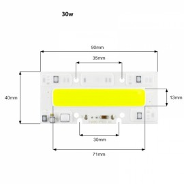 30W DIY COB LED High Voltage Drive Free Chip Bulb Bead for Flood Light White(AC220V)