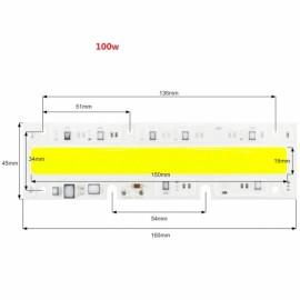 100W DIY COB LED High Voltage Drive Free Chip Bulb Bead for Flood Light AC220V White