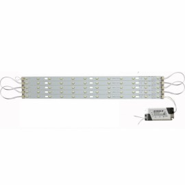 40CM 30W 5730 LED High Brightness Bar Light LED Strip with IC Constant Current Power Driver + Magnetic Holder Warm White