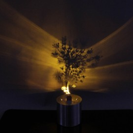 9PIG Creative Dandelion LED Candle Light Projector Lamp Silver