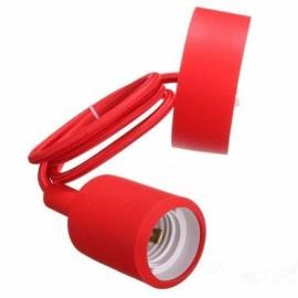 E27 Silicone Rubber Pendant Light Lamp Holder Socket DIY Red