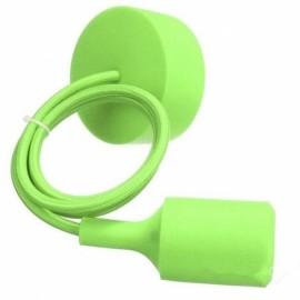 E27 Silicone Rubber Pendant Light Lamp Holder Socket DIY Green
