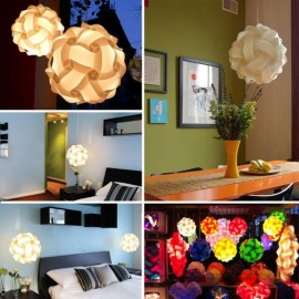 30pcs 30cm IQ Jigsaw Puzzles Lamp Puzzle Lampshade Ceiling DIY Lamp Cover White M
