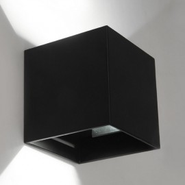 3W Black LED Square Wall Lamp Surface Install Light Fixture White Light