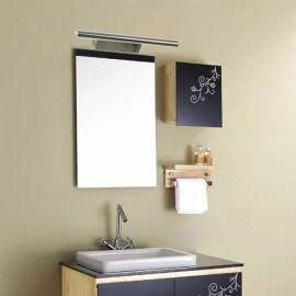 Stainless Steel Waterproof LED Make-up Wall Mirror Light Bathroom Lamp with Switch 5w/40cm/5530 White Light
