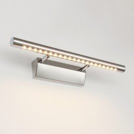 Stainless Steel Waterproof LED Make-up Wall Mirror Light Bathroom Lamp with Switch 5w/40cm/5530 Warm White Light