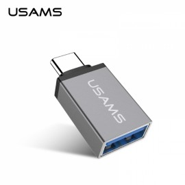 USAMS US-SJ021 Micro USB to Type-C Adapter Converter Dark Silver