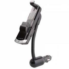 Vehicle Phone Holder Wireless Bluetooth Car Kit FM Transmitter MP3 Player Black